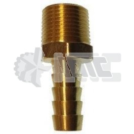 "953N4H6 BRASS ELBOW 1/4"" M NPT x 3/8"" hose barb"