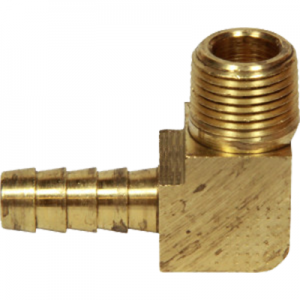"953N6H6 BRASS ELBOW 3/8"" M NPT x 3/8"" hose barb"